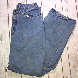 L.L. Bean double wide leg high waist jeans size 14